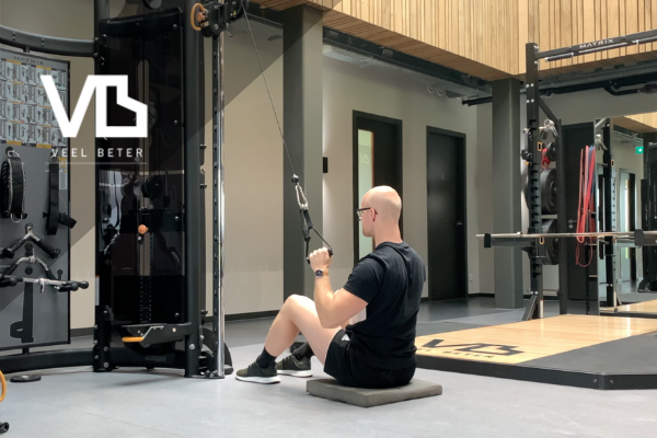 Kracht: seated one arm lat pull down